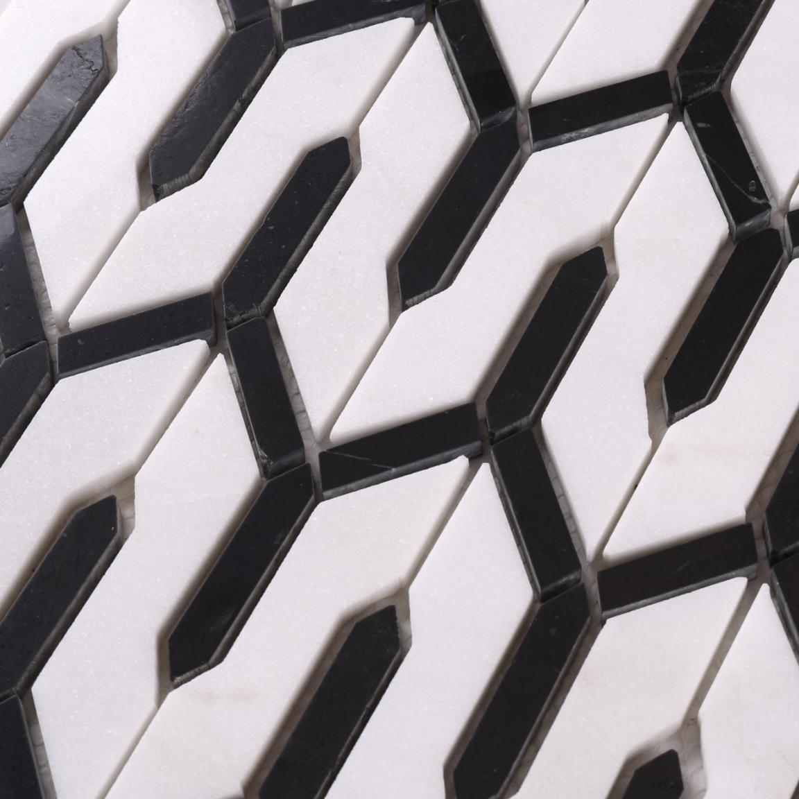 news-Heng Xing-Heng Xing black decorative mosaic tiles design for kitchen-img