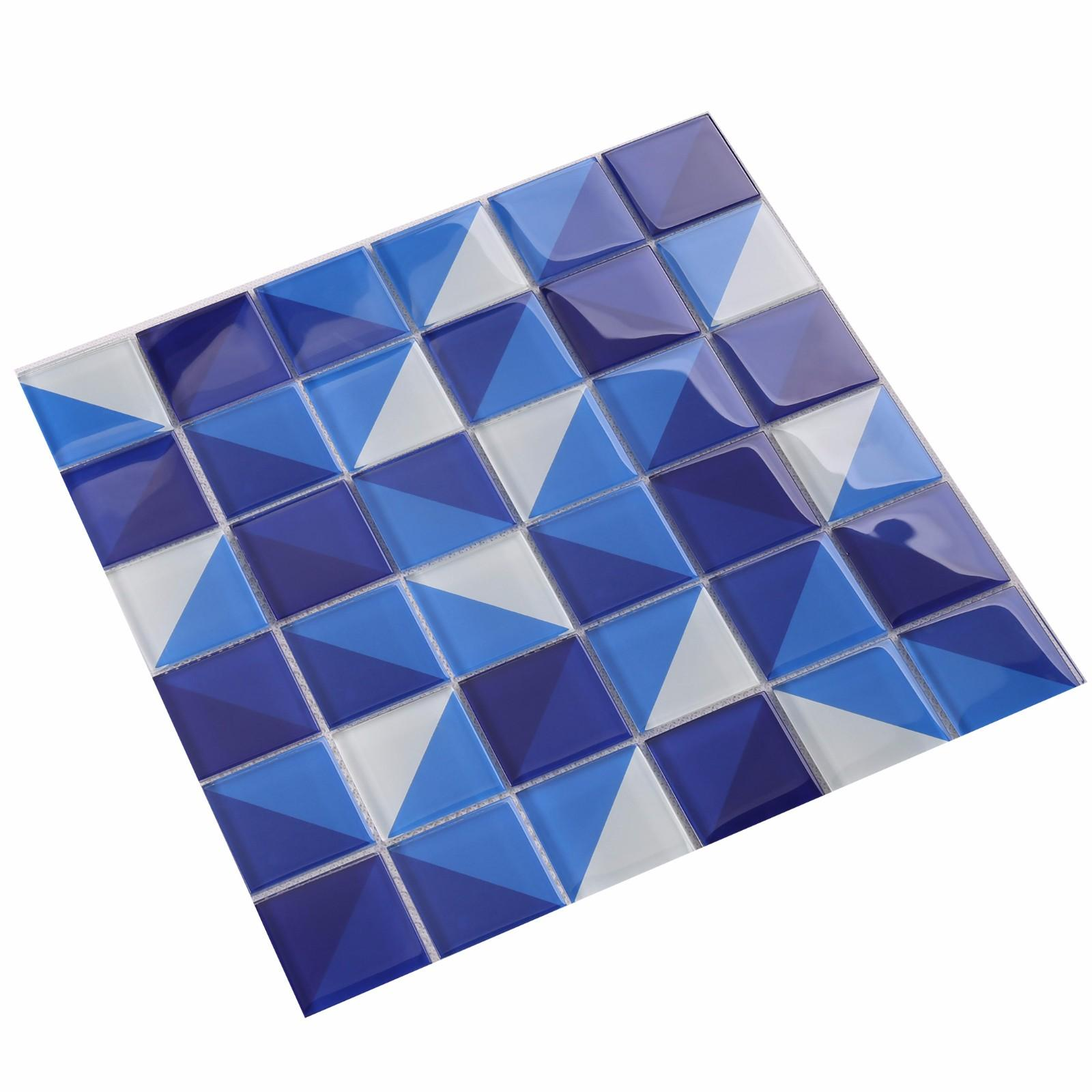 Heng Xing Wholesale grey glass mosaic tiles company for spa-3