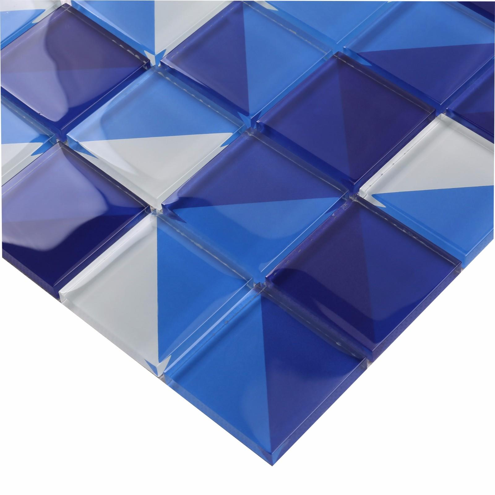 product-Classic Style Artistic Square Blue Glass Pattern Swimming Pool Tile HT04-Heng Xing-img