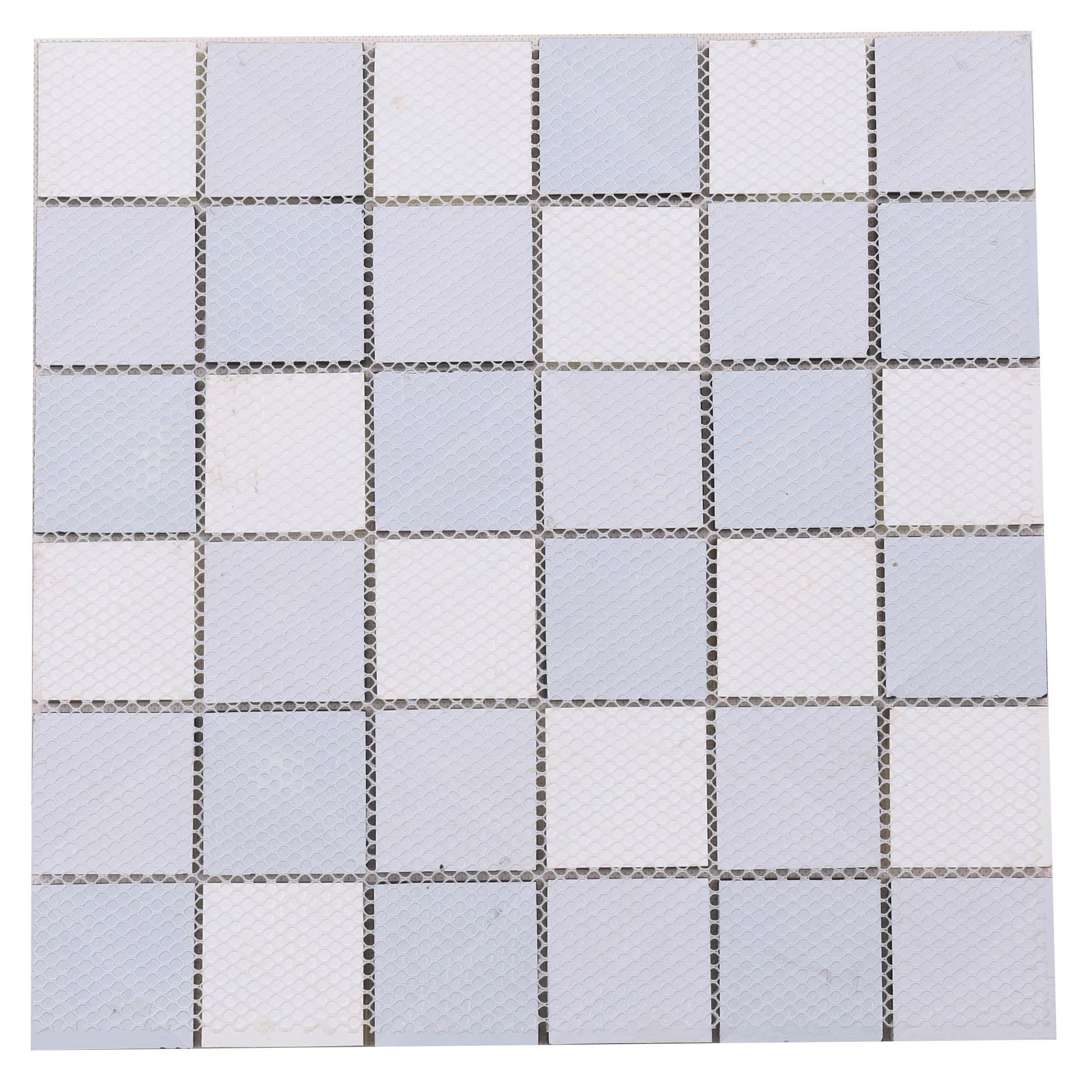 product-Heng Xing-Classic Style Artistic Square Blue Glass Pattern Swimming Pool Tile HT04-img
