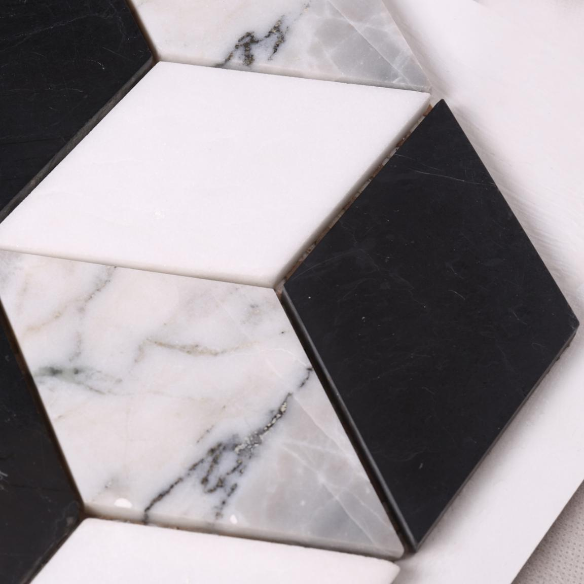 Heng Xing mosaic carrara herringbone company for backsplash-4