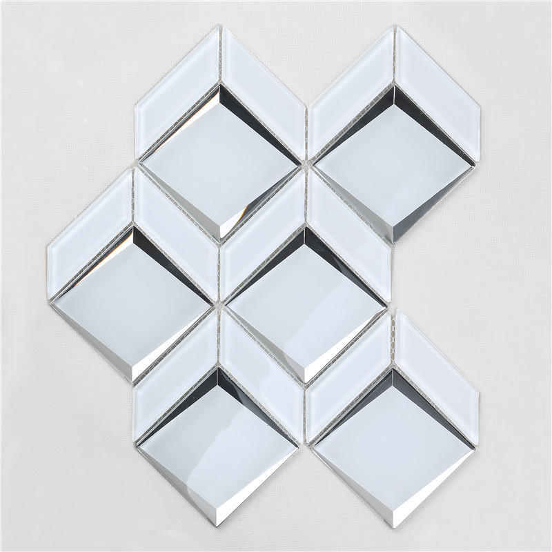 Newest Arrival Luxurious Bevel Glass Mosaic For wall HMB170