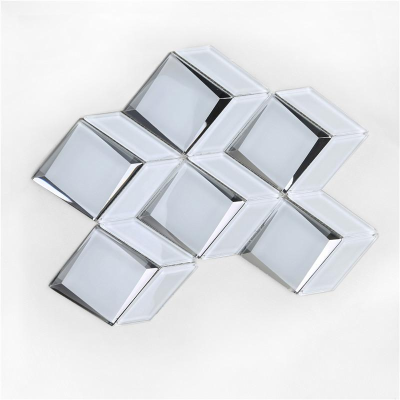 product-Newest Arrival Luxurious Bevel Glass Mosaic For wall HMB170-Heng Xing-img