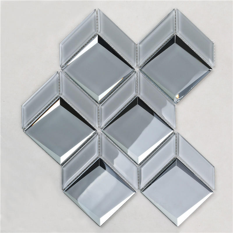 Newest Arrival Luxurious Gray Bevel Glass Mosaic For wall HMB172