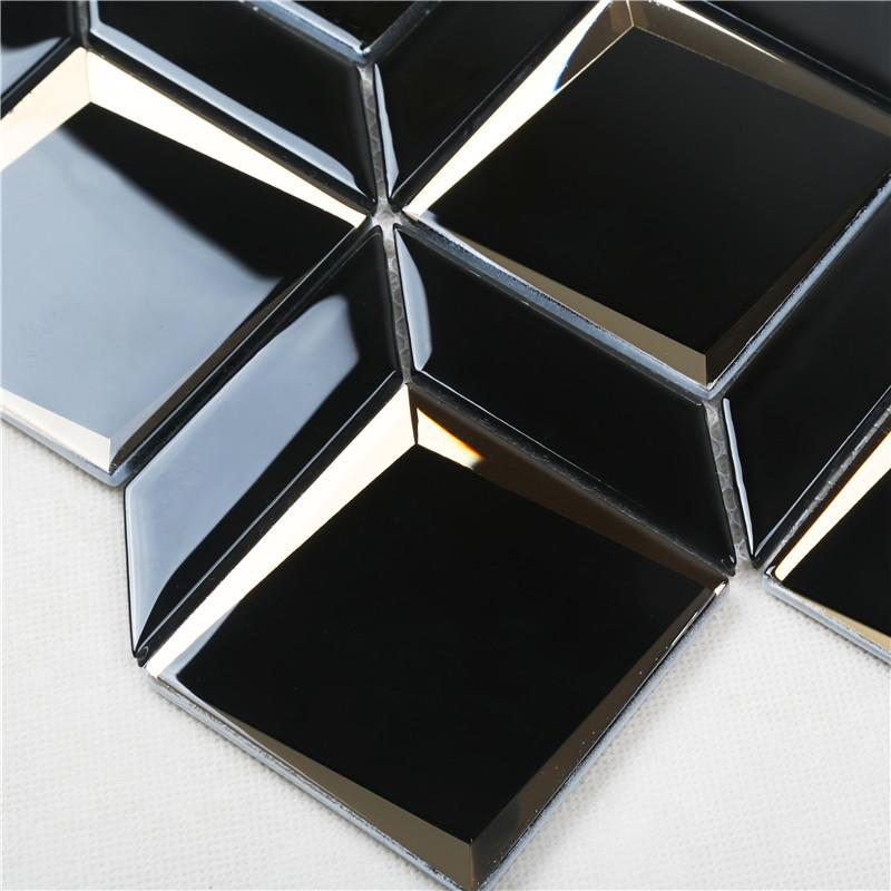 Heng Xing electroplated blue glass tile backsplash supplier for hotel-4