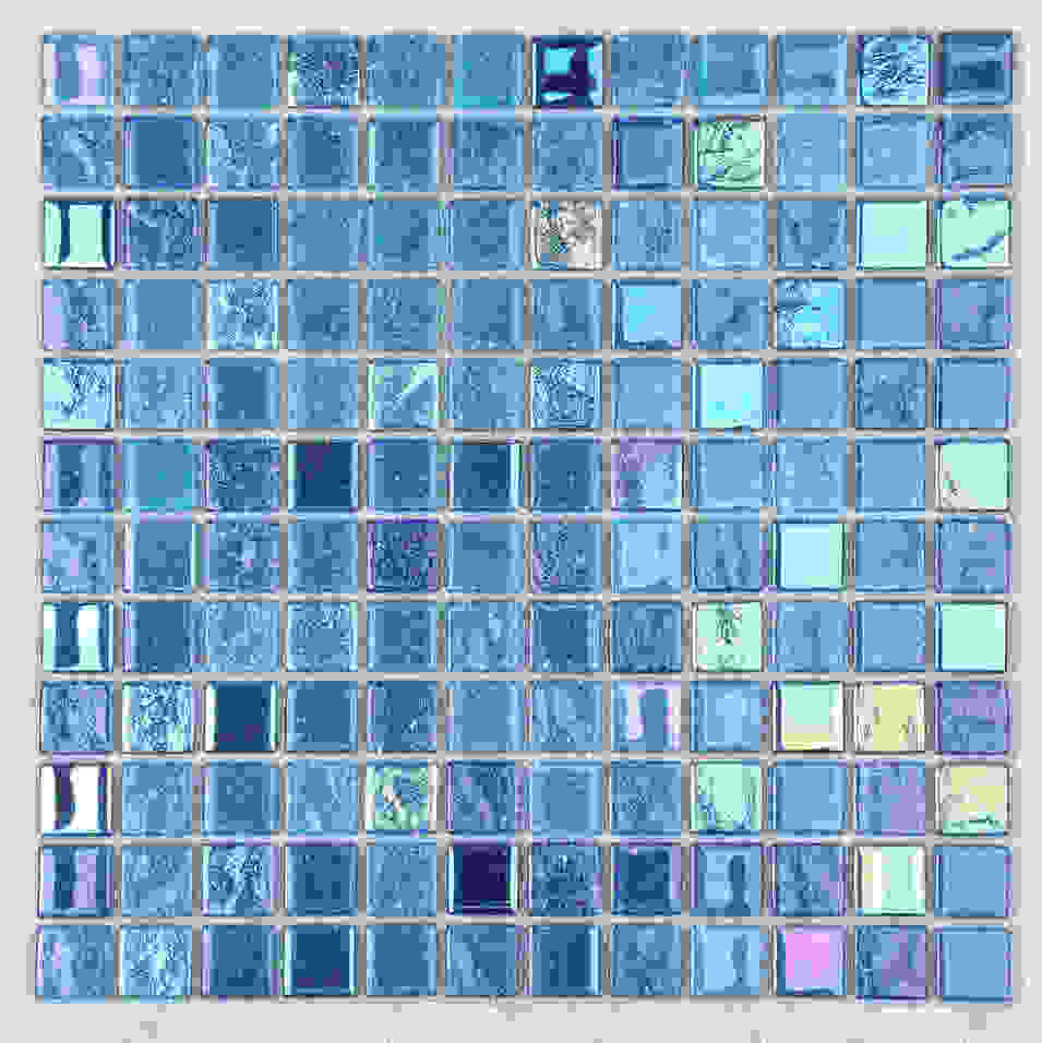 Blue Rainbow Color Swimming Pool Tile HXK01- A