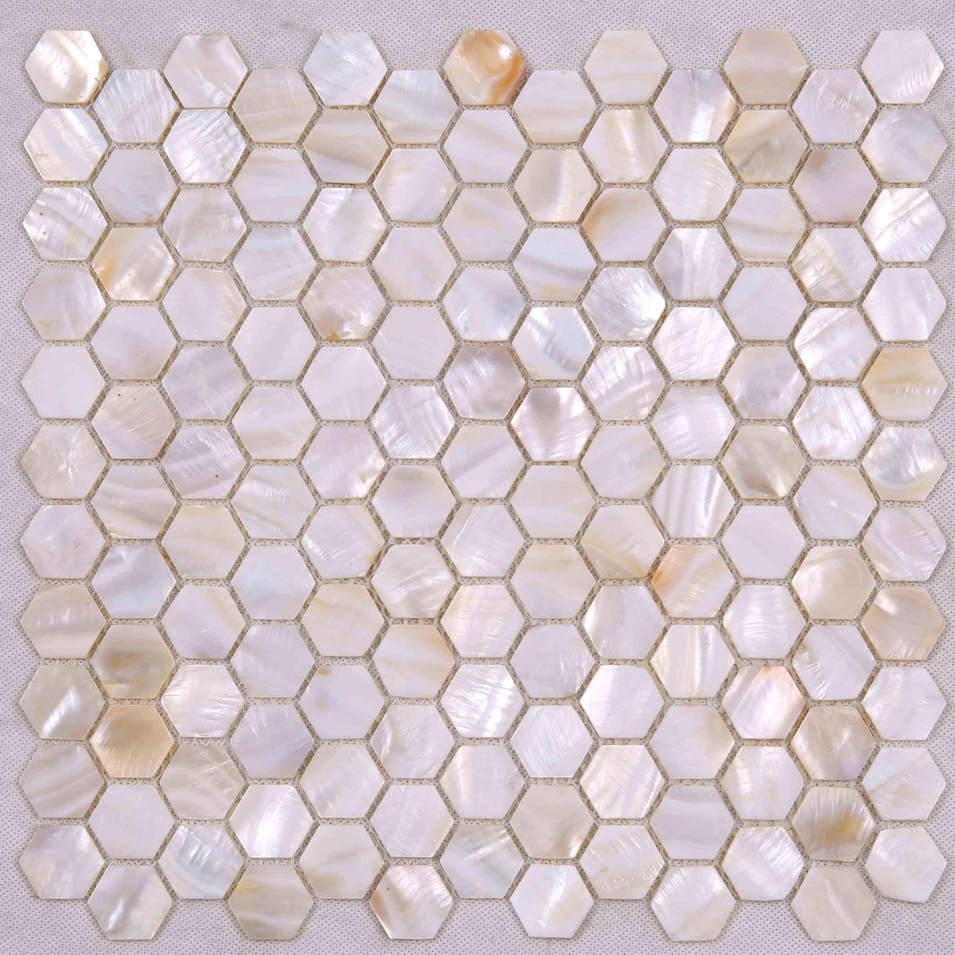 Luxury Style Natual Hexagon Shape Mother of Pearl Tile BK17
