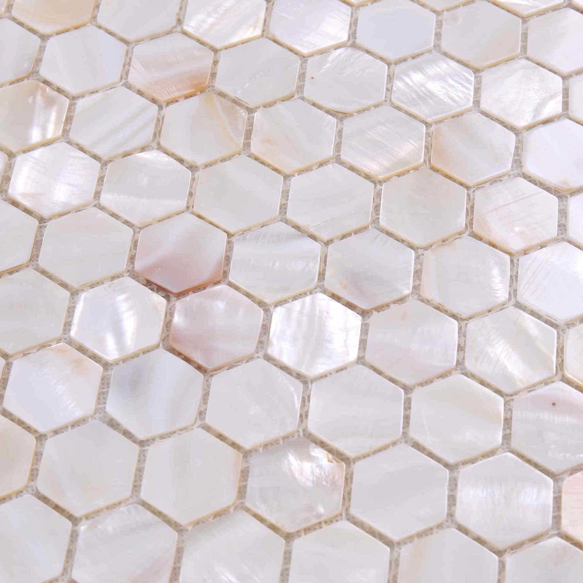 Luxury Style Natual Hexagon Shape Mother of Pearl Tile BK17