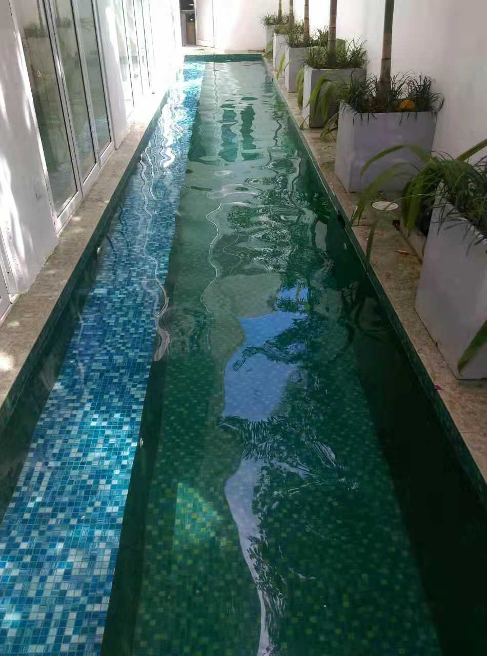 product-Heng Xing-Mixed Golden Line iridescent Glass Swimming Pool Tiles CL09-img-5
