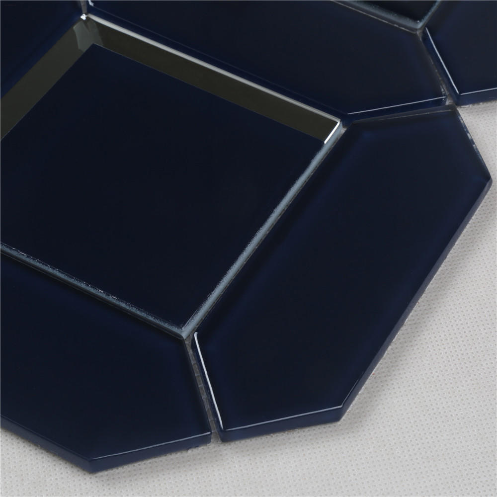 Bevel Glossy Glass Mosaic tiles irregular shape HMB121