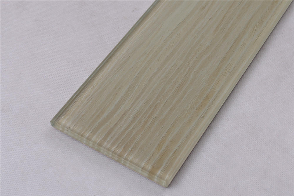 Natural Wooden Color Beige Glass Mosaic Tiles HSMW11