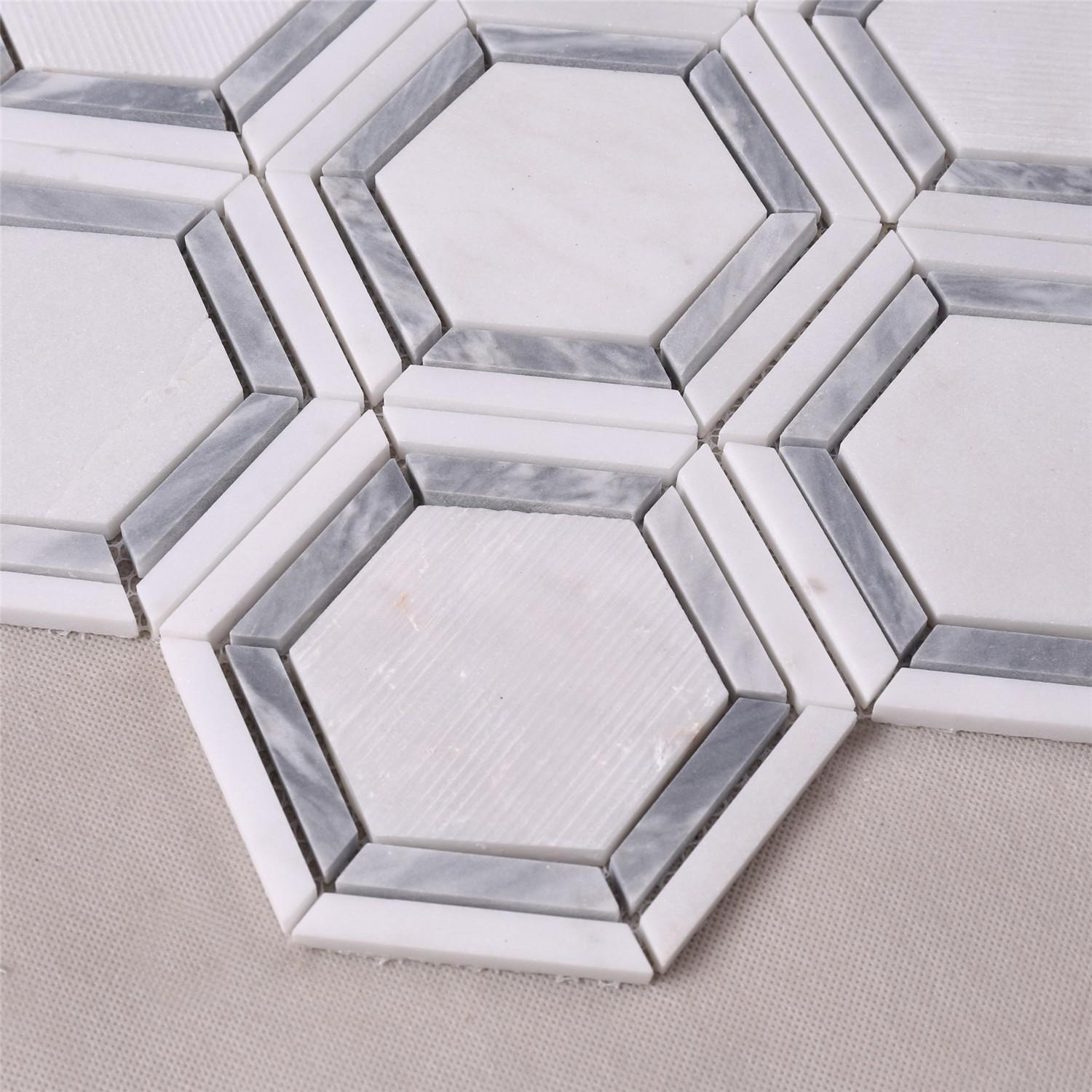 product-hexagon marble mosaic mosaic tile marble mosaic tile-Heng Xing-img