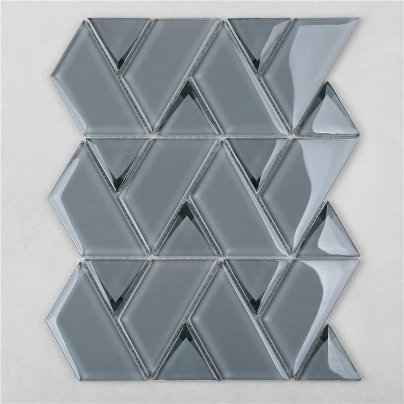 Gray Popular Bevel Mosaic Triangle Mix Trapezium For Wall Decoration HMB151-B