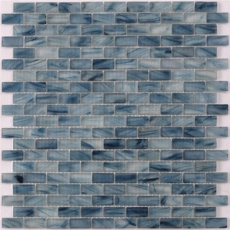Light Blue Waterline swimming Pool Mosaic Tiles Cheap Price NM766
