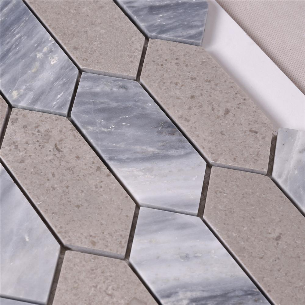 marble mosaic style tiles white factory for bathroom