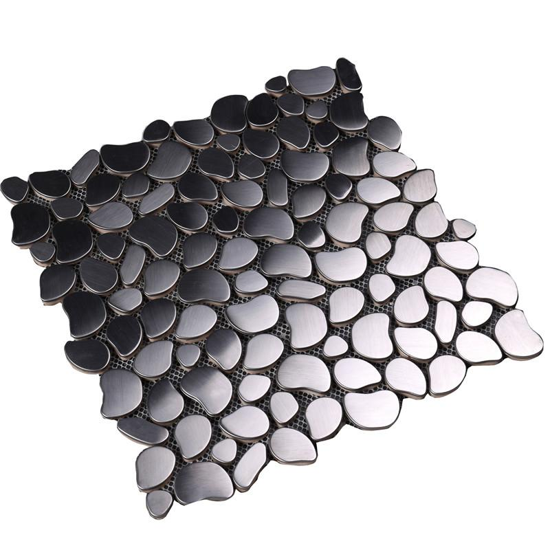 product-Heng Xing-Decorative Cobble Pebble Shape Mosaic Tile for Stove-img