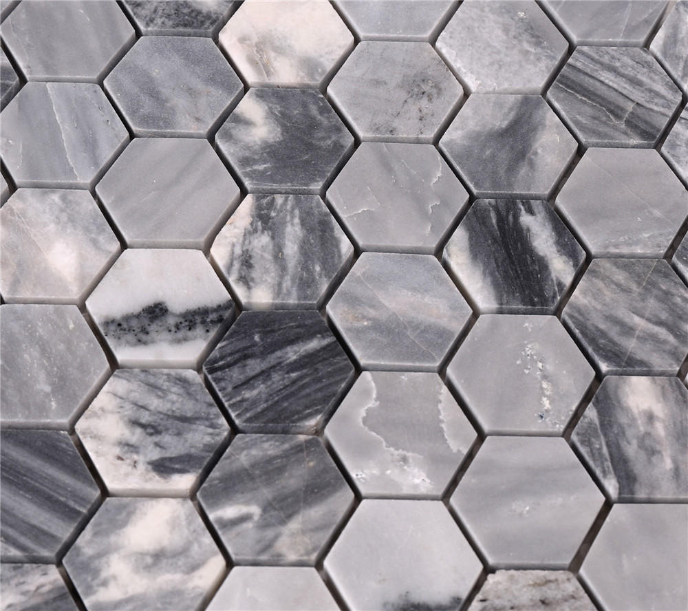 Top Rated Hexagon Stone Mosaic Backsplash and Floor Tile HSC23
