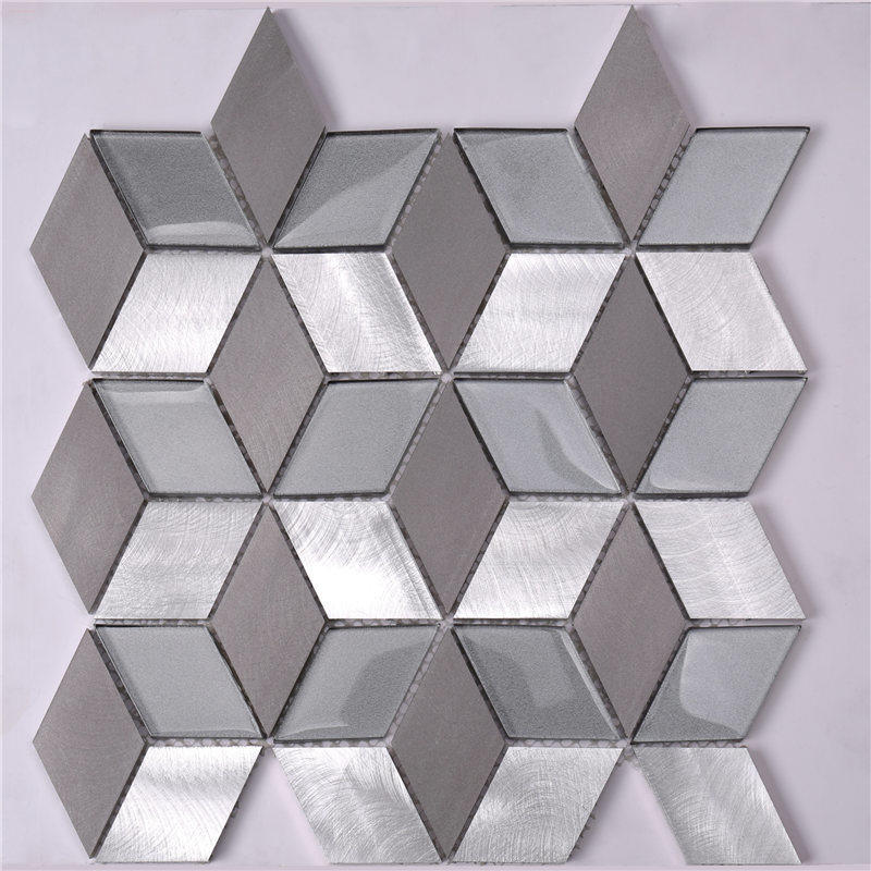 Easy Clean Diamond / Rhombus Shaped Mosaic Tiles