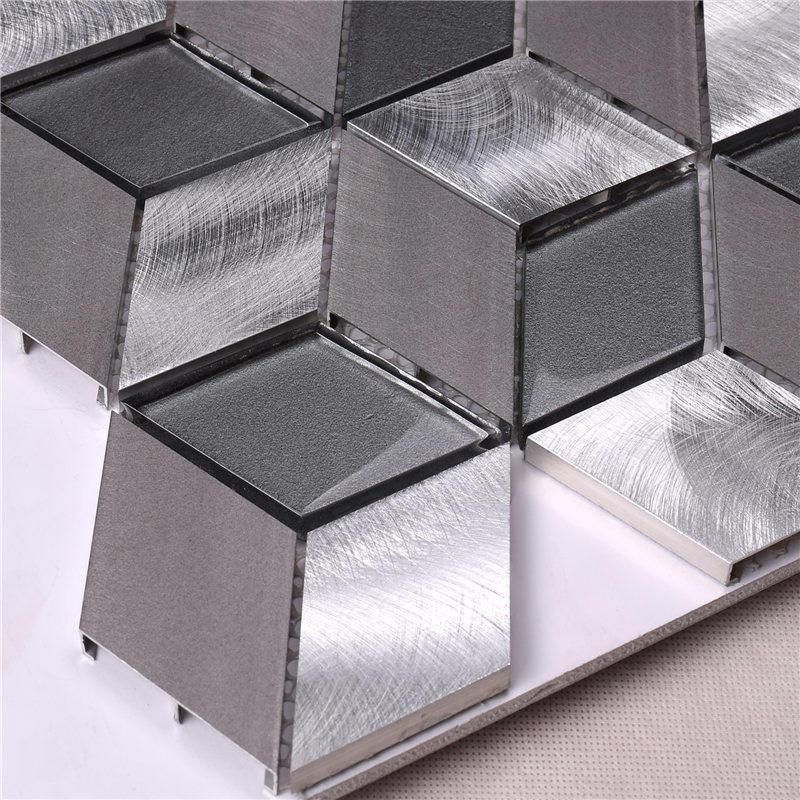 Easy Clean Diamond / Rhombus Shaped Mosaic Tiles