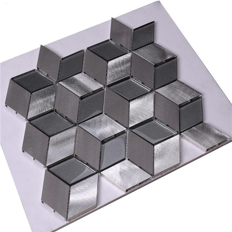 Heng Xing grey glass mosaic tiles customized for villa-Heng Xing-img-1