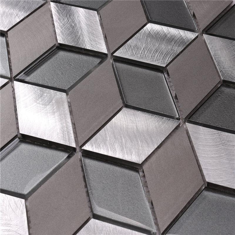 product-Heng Xing-Easy Clean Diamond Rhombus Shaped Mosaic Tiles-img