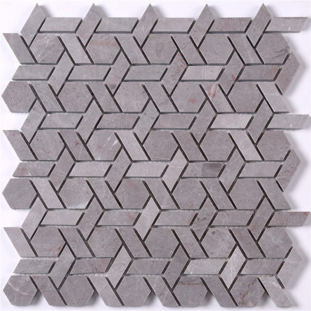 Basket Shape Stone Mosaic Tile for Floor Decoration HSC140