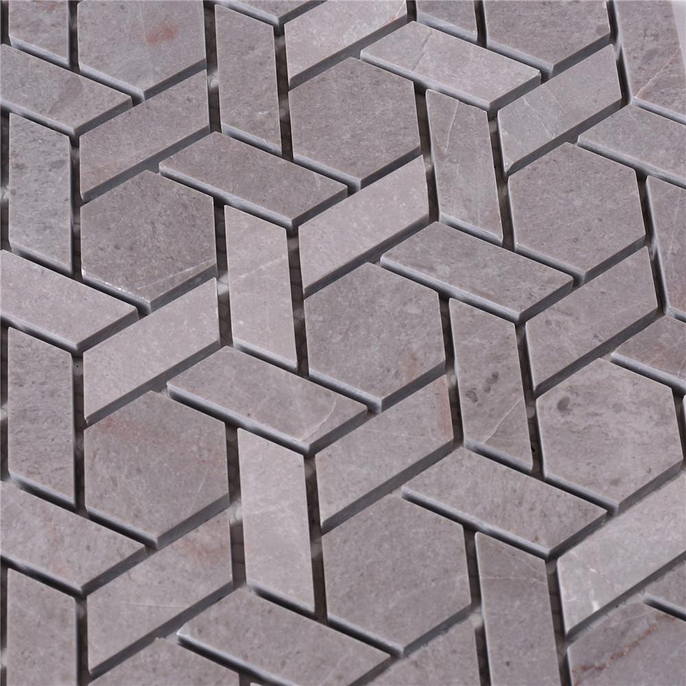 2x2 glass stone mosaic tile gray manufacturers for bathroom-4
