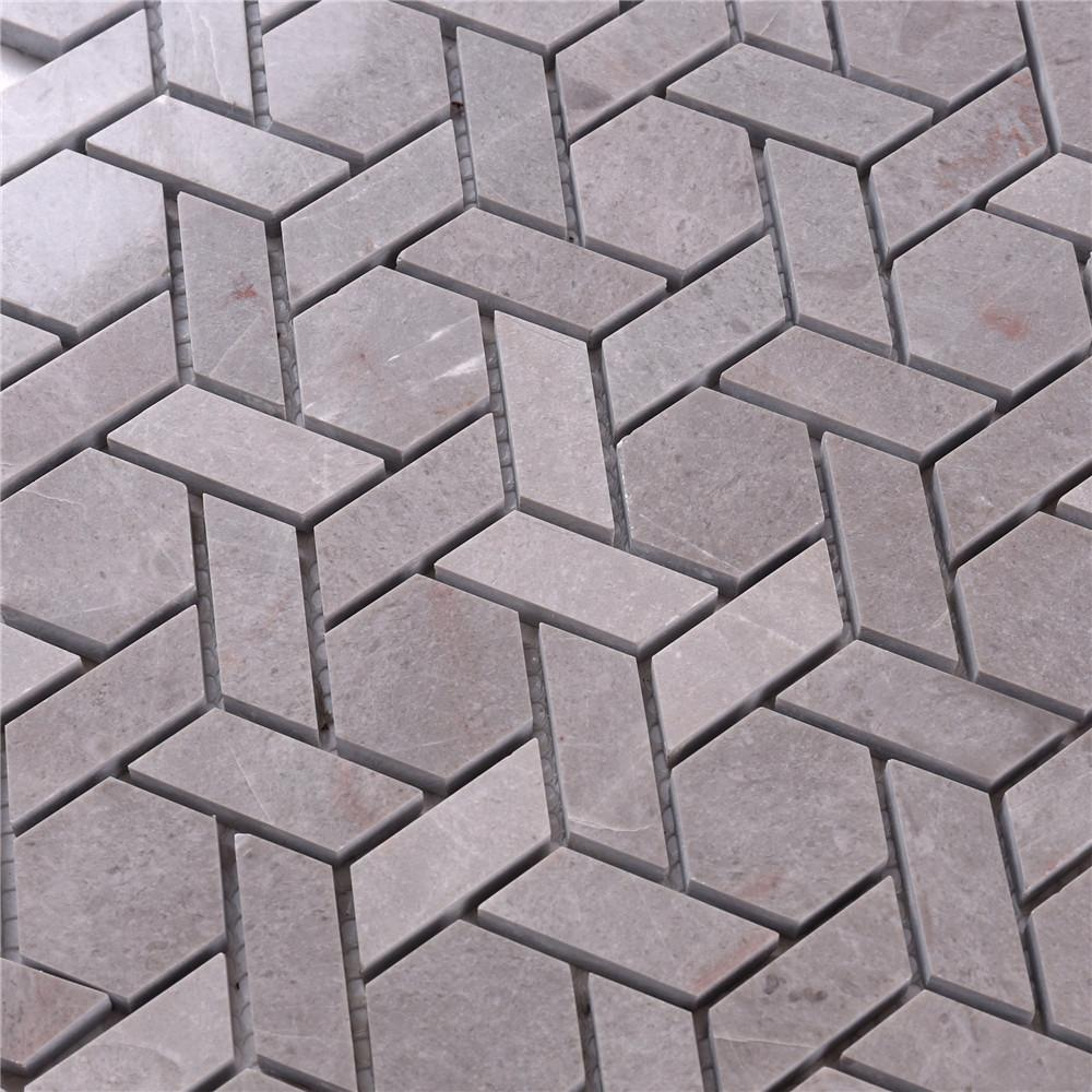 2x2 glass stone mosaic tile gray manufacturers for bathroom-5