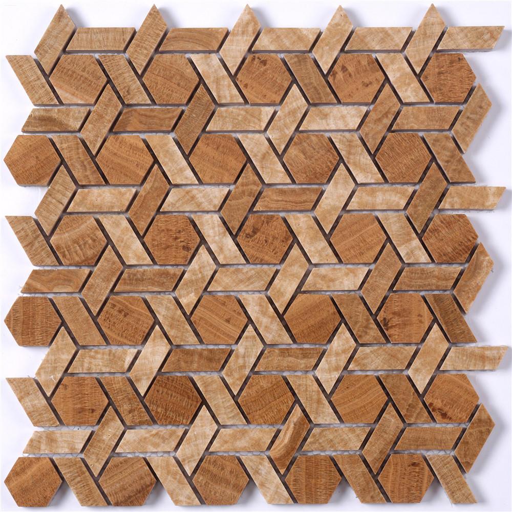 Factory Price Marble Stone Mosaic Tile for Backsplash & Floor HSC141