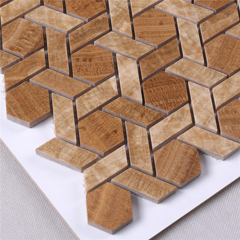 product-Heng Xing-Factory Price Marble Stone Mosaic Tile for Backsplash Floor HSC141-img