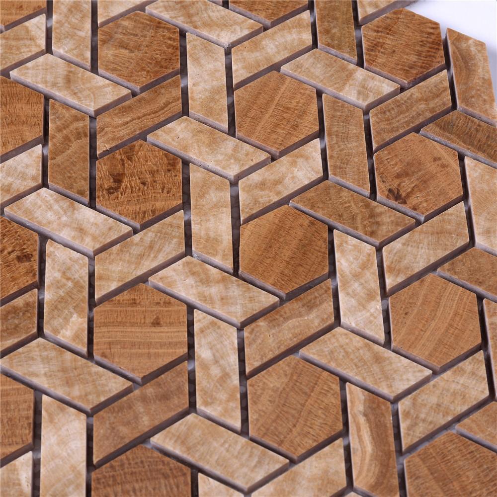 product-Backsplash Mosaic Tile Marble mosaic Stone Mosaic Tile-Heng Xing-img