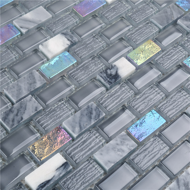news-Heng Xing golden marble glass mosaic tile Supply for kitchen-Heng Xing-img