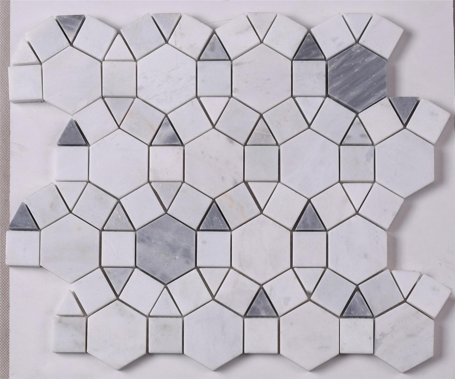 Heng Xing New grey mosaic tiles factory for bathroom