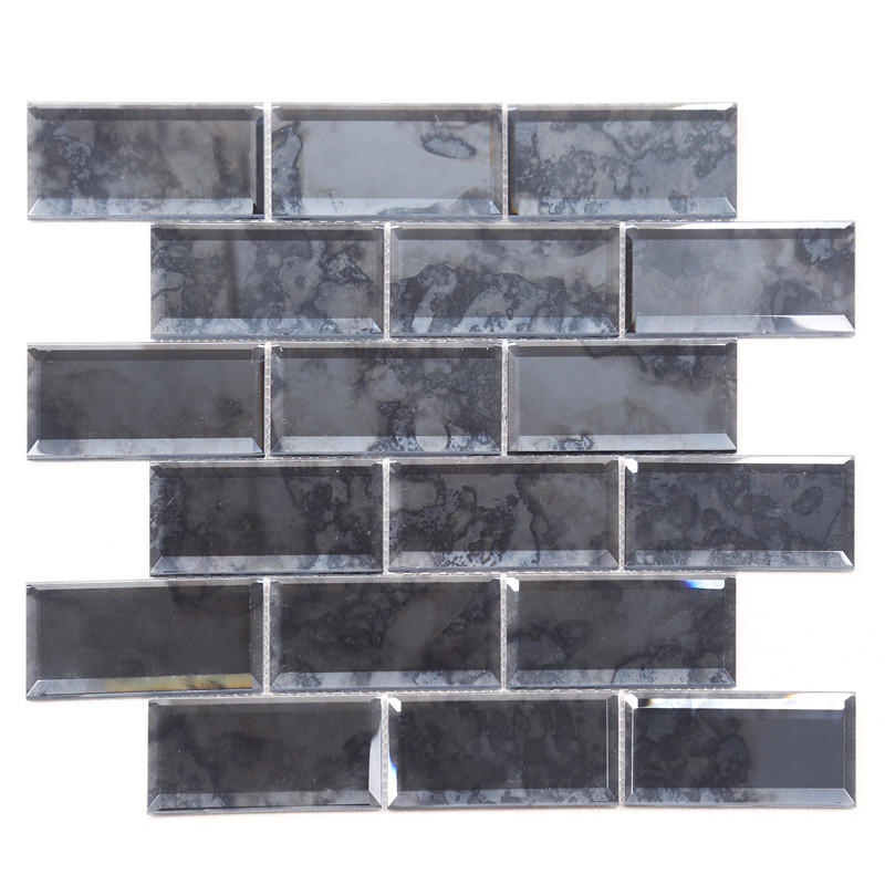 Antique Gray Classic Style Subway Tile Mirror Mosaic For Wall HFG23-B