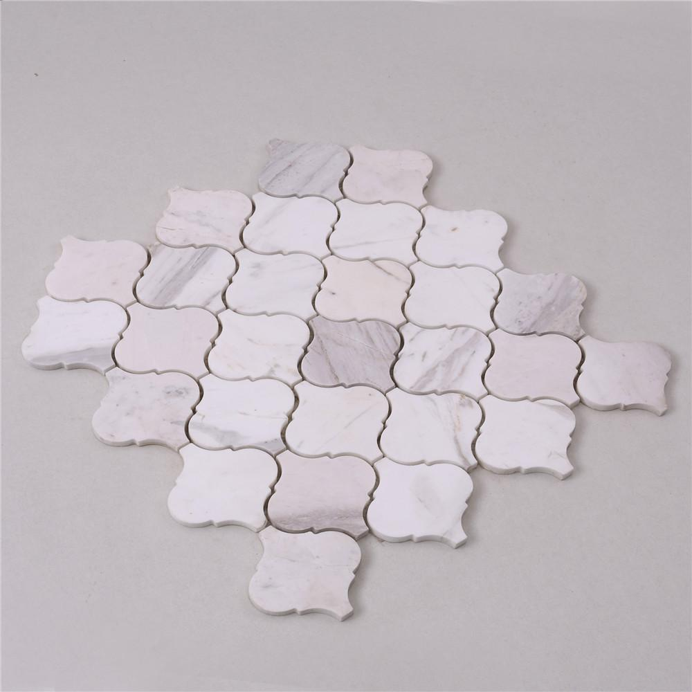 golden marble glass mosaic tile white for business for kitchen-2