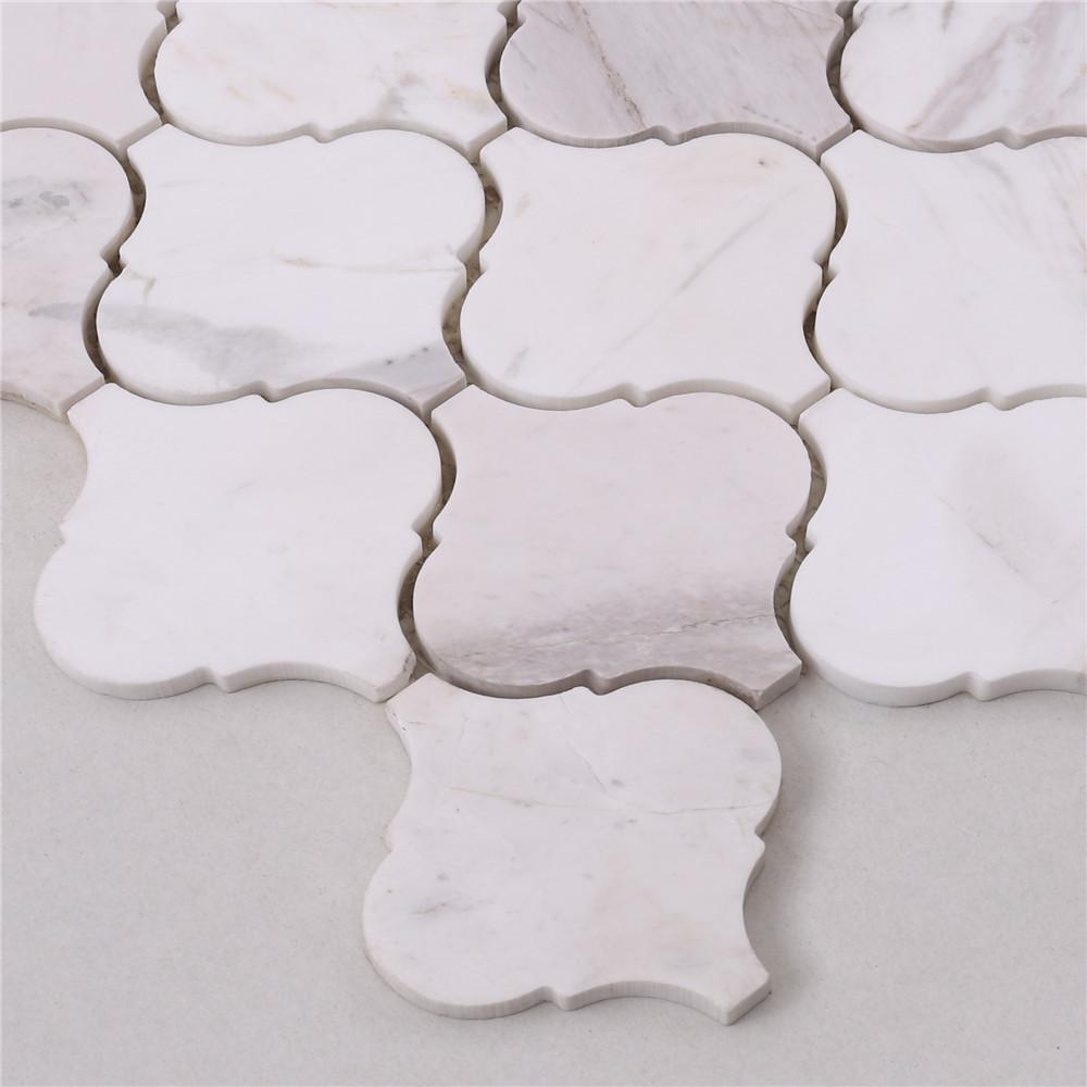 golden marble glass mosaic tile white for business for kitchen-3