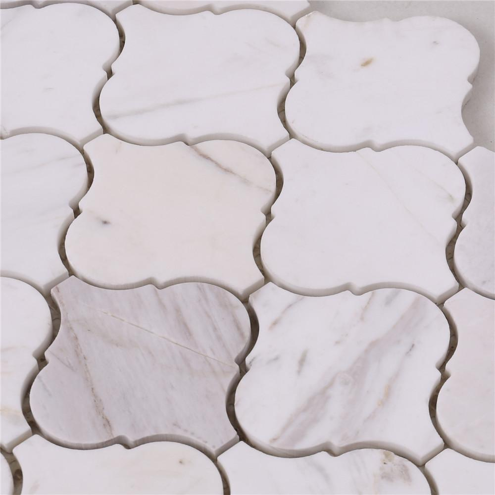 golden marble glass mosaic tile white for business for kitchen-4