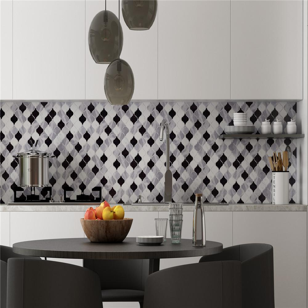Heng Xing hexagon blue grey mosaic tiles Suppliers for kitchen-9