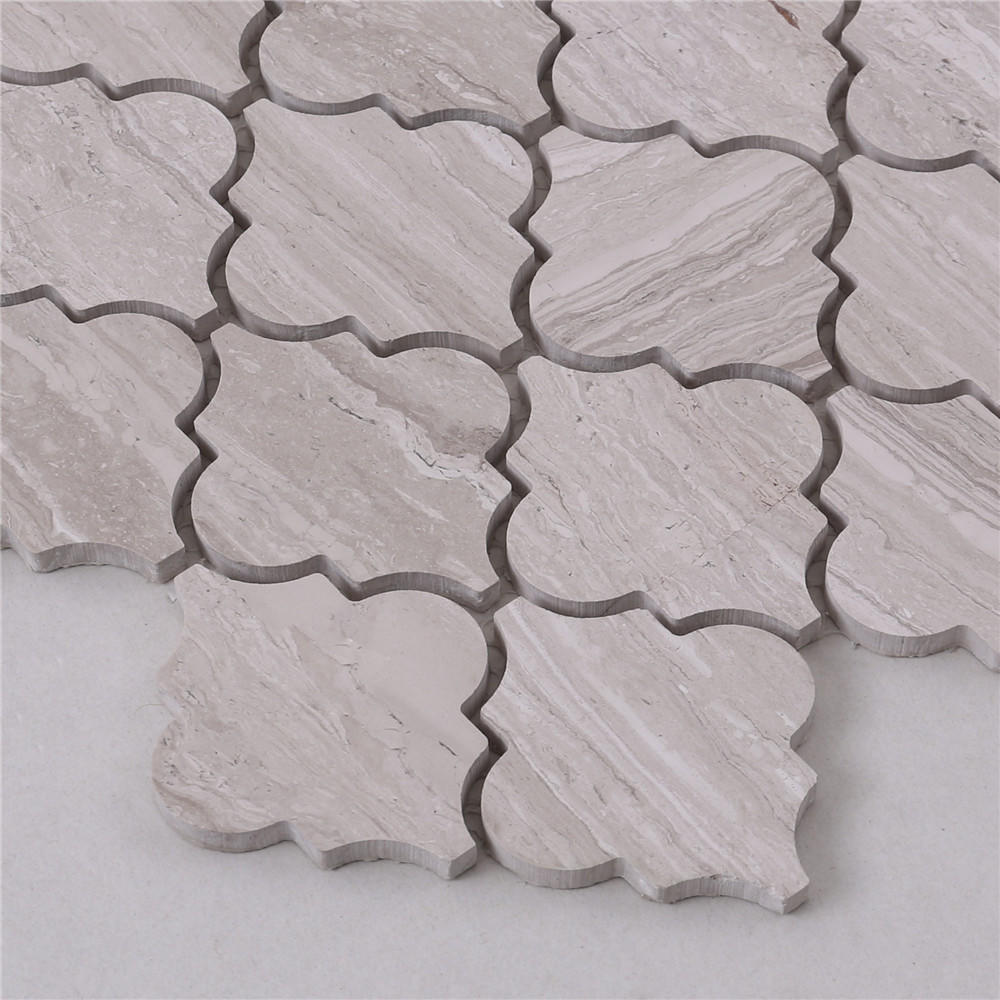 CAB2 Water Jet High Quality Lantern Backsplash Kitchen Stone Marble Mosaic Tile