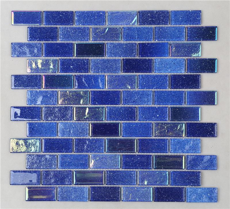 Ideal Outdoor Ocean Blue Iridescent Swimming Pool Mosaic Tiles HXK02-B