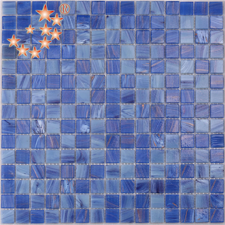 20 mm Blue pool Glass Mosaic Tiles for Swimming Pool