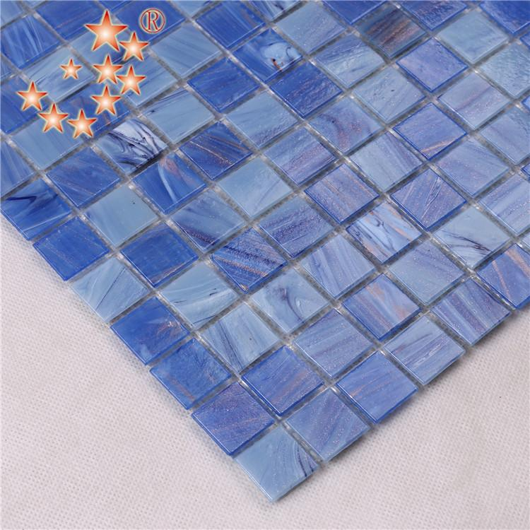 product-20 mm Blue pool Glass Mosaic Tiles for Swimming Pool-Heng Xing-img