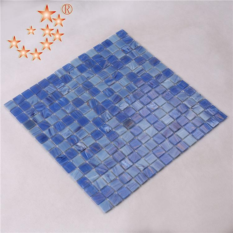 product-Heng Xing-20 mm Blue pool Glass Mosaic Tiles for Swimming Pool-img