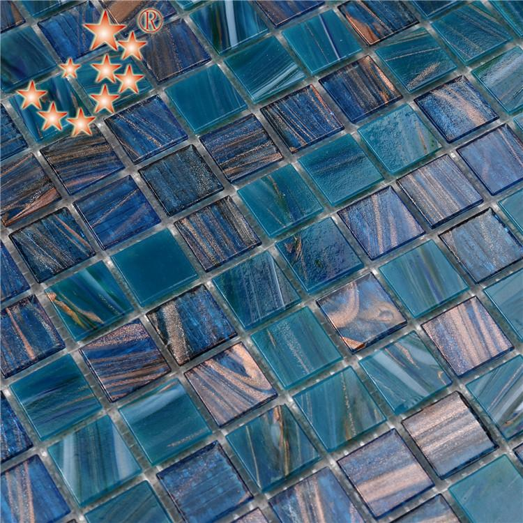 product-Heng Xing-China Dark Blue Swimming Pool 4mm Thickness Glass Mosaic Tile NO-303E-img