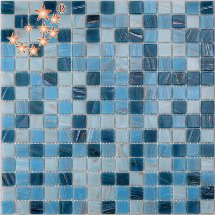 Classic Blue Art Glass Mosaic Tiles for Bathroom NO-307E
