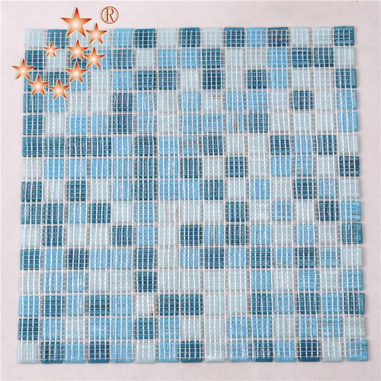 Classic Blue Art Glass Mosaic Tiles for Bathroom NO-307E