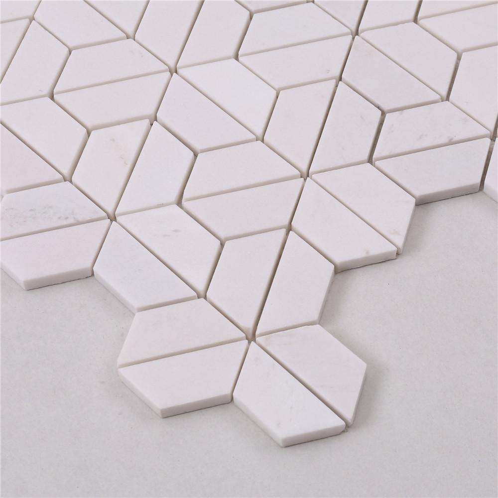 product-Heng Xing-HTA5 Basket Italian White Stone Marble Mosaic Flooring Tile-img