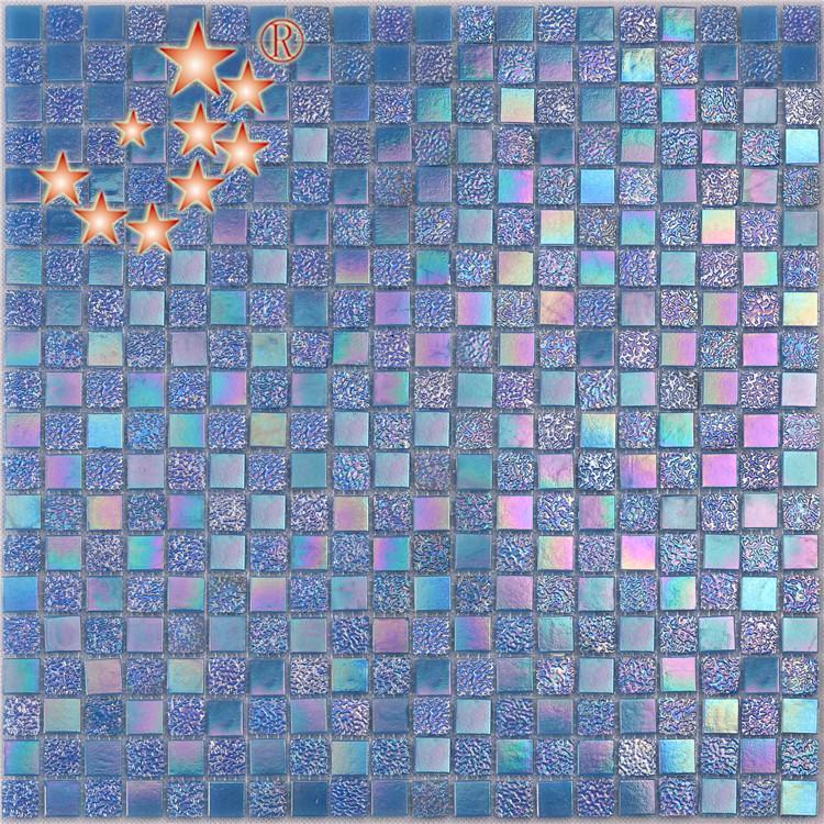 luxury aquamarine glass tile floor manufacturers for spa