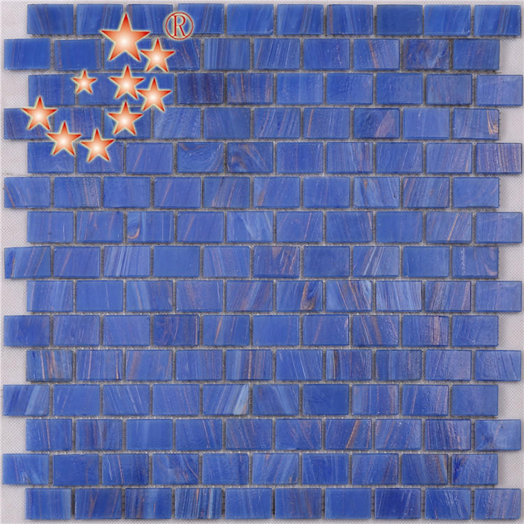 Ocean Blue Interlocking Glass Crystal Mosaic Bathroom Tiles NE742