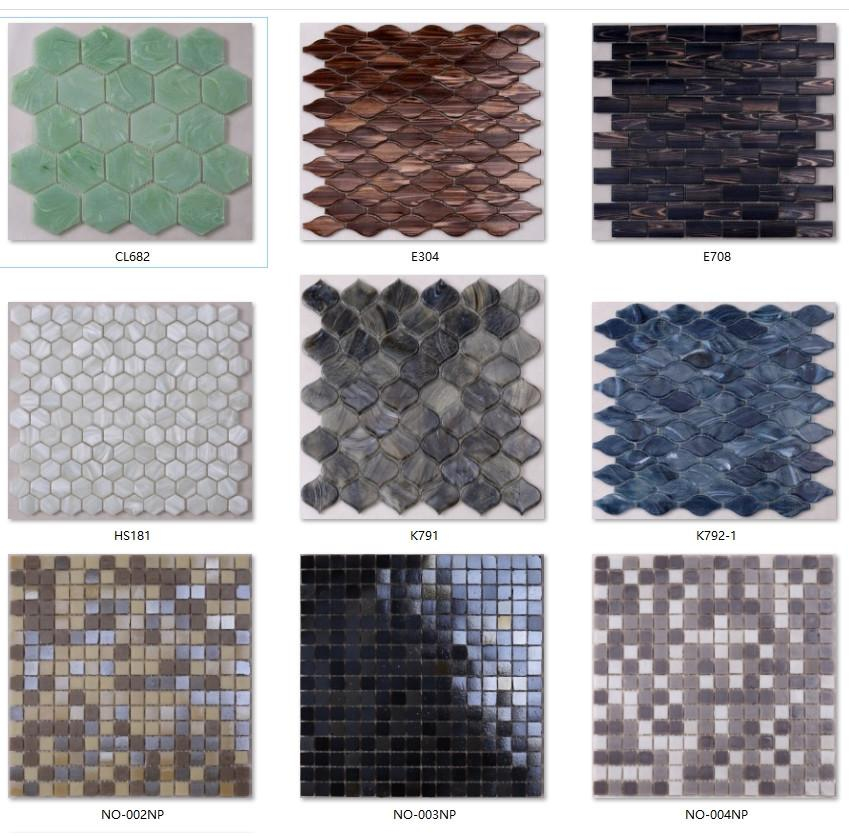 ceramic herringbone glass tile waterline supplier for bathroom-5